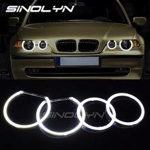 COB LED Angel Eyes Halo Rings Kit For BMW E90 E91 E83 X3 E46 ti/td Compact Non-projector Headlight Cars DIY Retrofit 131mm+106mm
