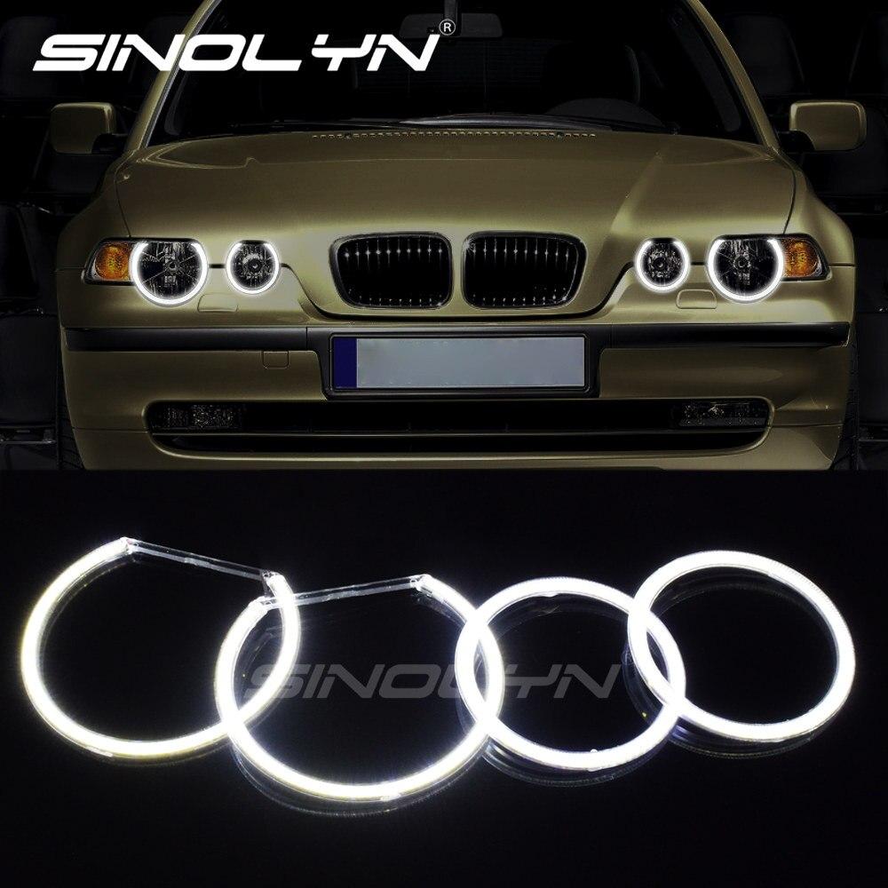 4pcs For BMW E83 X3 2000-2010 CCFL Angel Eyes 7000K White Halo Rings Light Kit