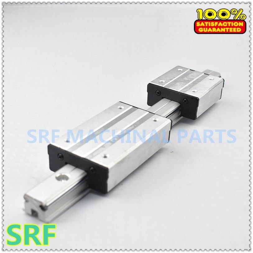 1 pièces Carré En Aluminium Rouleau de Rail de Guidage Linéaire LGD8 L = 1000mm + 1 pièces LGD8 bloc
