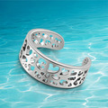 Genuine Solid  925 sterling silver ring. The latest fashion index finger ring. The tail ring. Delicate hollow out. Gifts