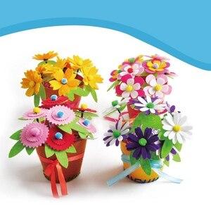 Image 4 - Sáng Tạo Vải Handmade Hoa Giỏ Đựng Đồ Chơi Trẻ Em Tự Làm Thủ Công Chất Liệu Bộ Dụng Cụ Sáng Tạo Mẫu Giáo Giáo Dục Trẻ Em Bé Gái