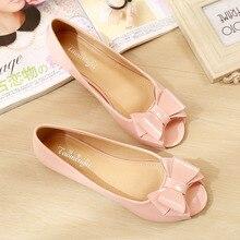 Letnie obuwie damskie płaskie mokasyny słodkie słodkie eleganckie buty z odkrytymi palcami kobieta Slipony rozeta panie Student mieszkania buty 34 43