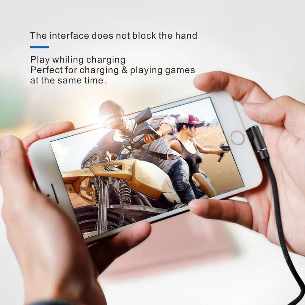 1m 8Pin Interfaccia Per Cavo USB 90 Gradi Ad Angolo In Nylon Intrecciato Maschio A Maschio Cavo di Dati Per La Riproduzione di Gioco cavo di sincronizzazione Per iPhone iPad