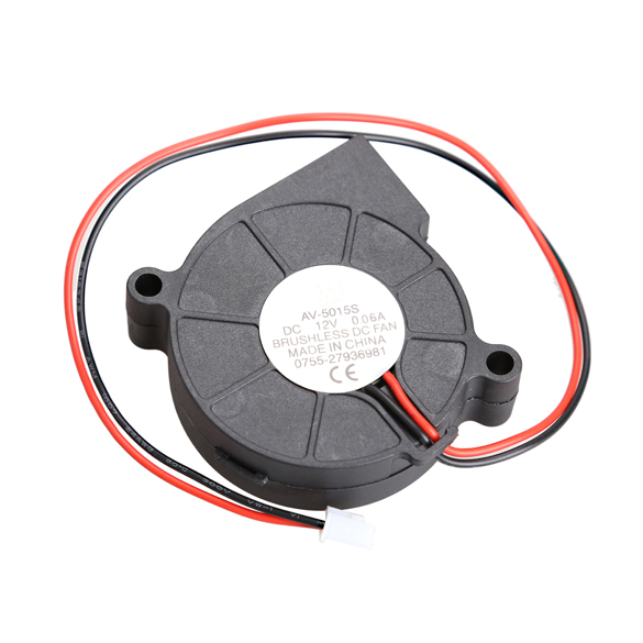 Thermoplastic Material Black Brushless DC Cooling Blower Fan 2 Wires 5015S 12V 0.06A 50x15mm 5pcs 5015 cooling turbo fan 12v brushless parts 2pin for makerbot reprap prusa cooler blower 50x50x15 3d printer part plastic dc