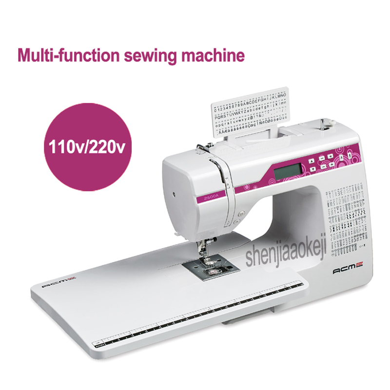 Upgrade Multi-function Electronic Sewing Machine 2600A Household Sewing Machine Of 200 Kinds Stitches With Extension Desk 30W