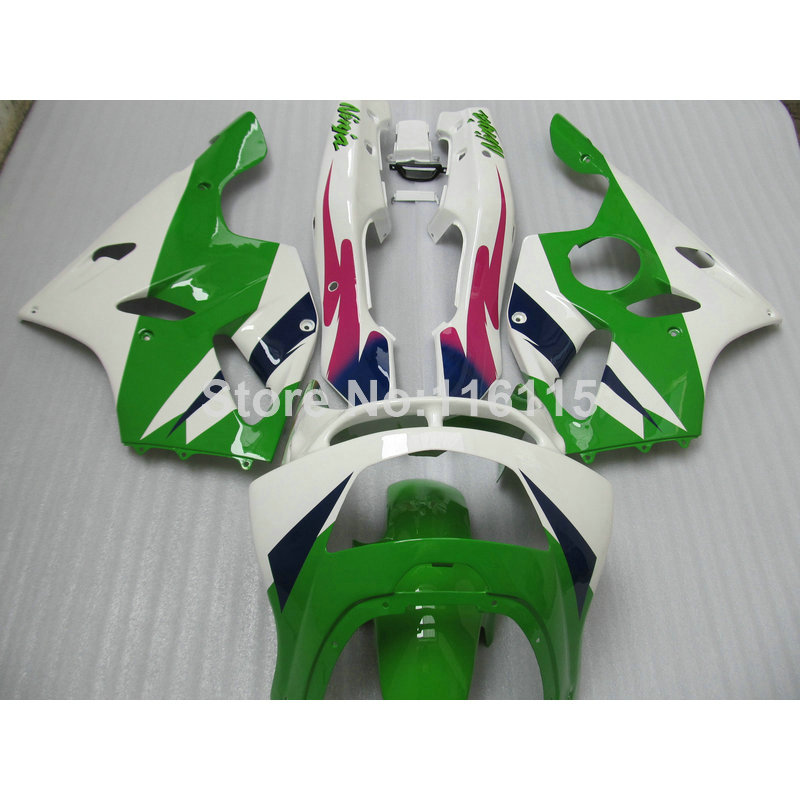 Full fairings bodywork for Kawasaki ZX6R fairing kit 1994 1995 1996 1997 Ninja 636 ZX 6R 94 95 96 97 green white red set EF9 free customize mold fairing kit for suzuki gsx 600f 750f 95 96 97 05 red black fairings set gsx600f 1995 1996 2005 lm41