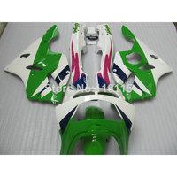 Full fairings bodywork for Kawasaki ZX6R fairing kit 1994 1995 1996 1997 Ninja 636 ZX 6R 94 95 96 97 green white red set EF9