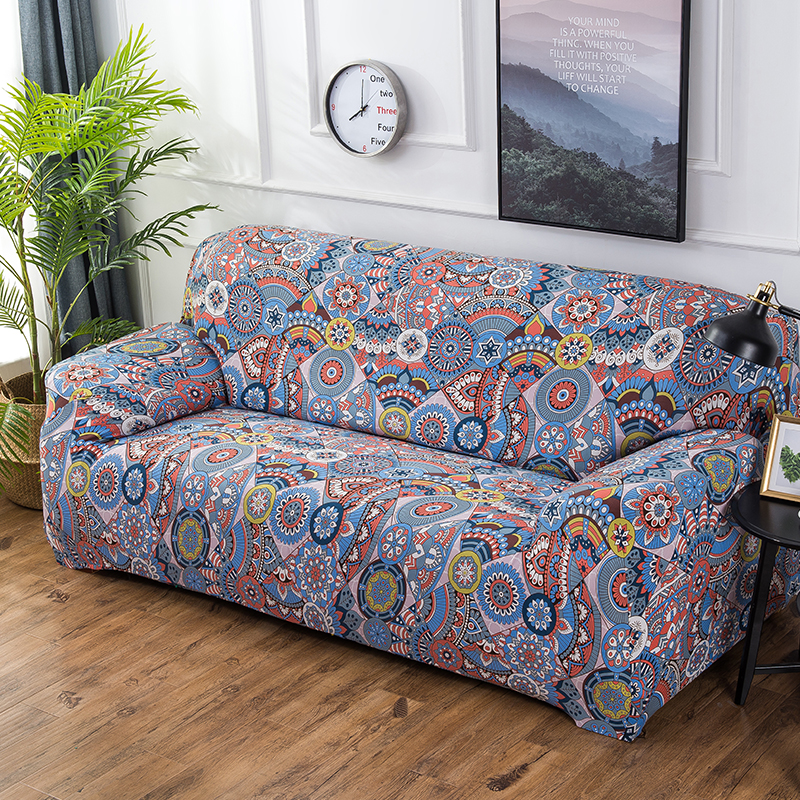 Modern Comfortable Sofa: New Ethnic Style Stretch Sofa Cover Large Elastic