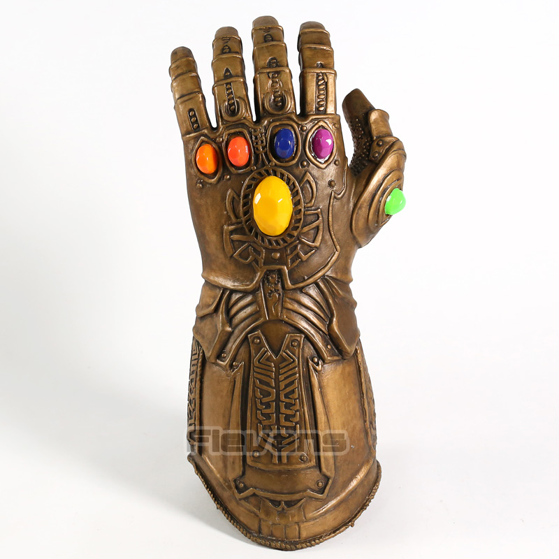 Avengers Endgame Thanos Infinity Gauntlet Cosplay Glove with LED Light PVC Figure Collectible Model ToyAvengers Endgame Thanos Infinity Gauntlet Cosplay Glove with LED Light PVC Figure Collectible Model Toy