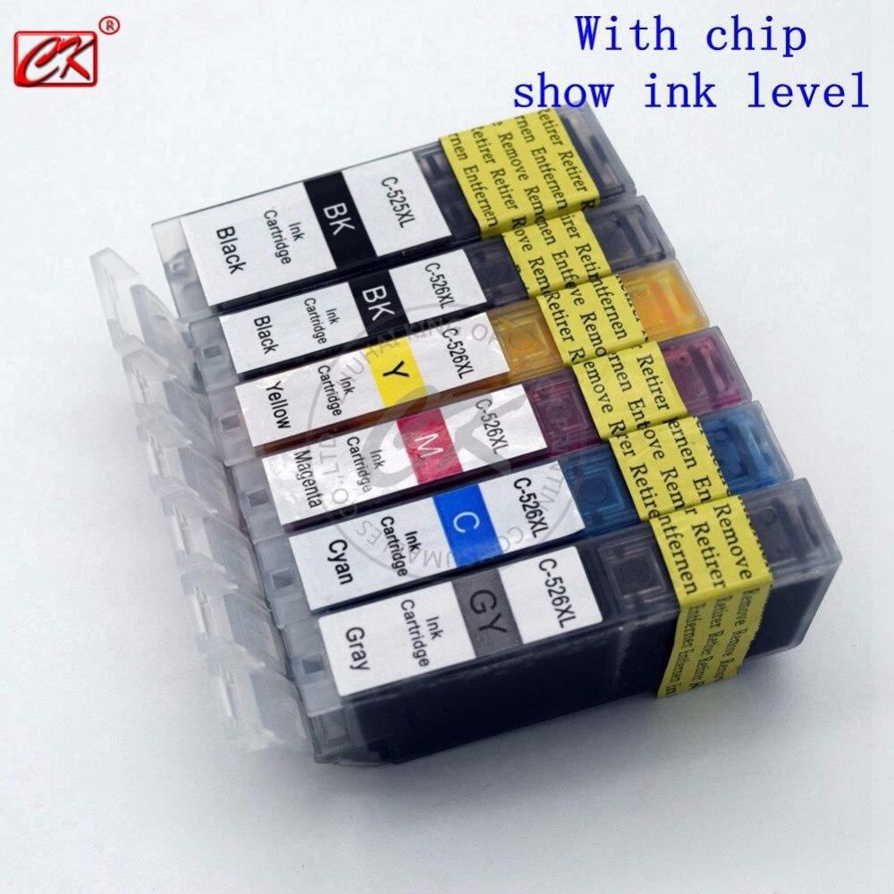 Chip for hp colour cf 400 a cf 400 m252dw m 277n m 252 mfp 252 n - 6pk Pig525 Cil526 Ink Cartridges Canon Pig 525 Cil 526 Pig 525 Cli 526 For Pixma Mg8150 Mg6150 Mg5250 Mg5150
