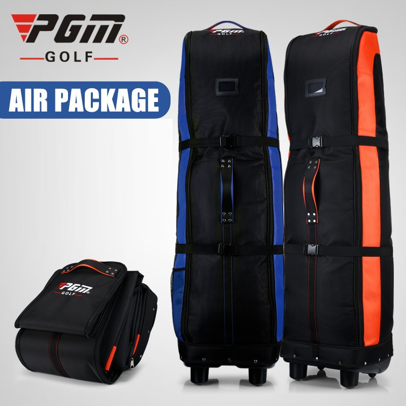Pgm Foldable Golf Aviation Bag Double Layer High Quality Golf Bag With Wheels Lightweight Travelling Storage Package D0065
