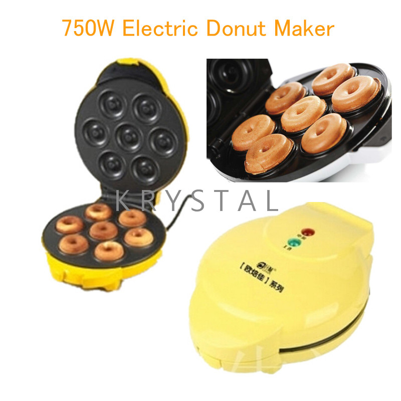 750W Electric Donut Maker Two-Side Heating Full Automatic Donut Waffle Maker Egg Cake Making Machine FS-508N 12psc lot egg waffle maker household type cake machine kitchen cooking donut maker free shipping by dhl