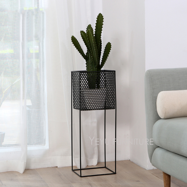 Moderne Blumentöpfe minimalistischen modernen design metall blume stehen wohnzimmer