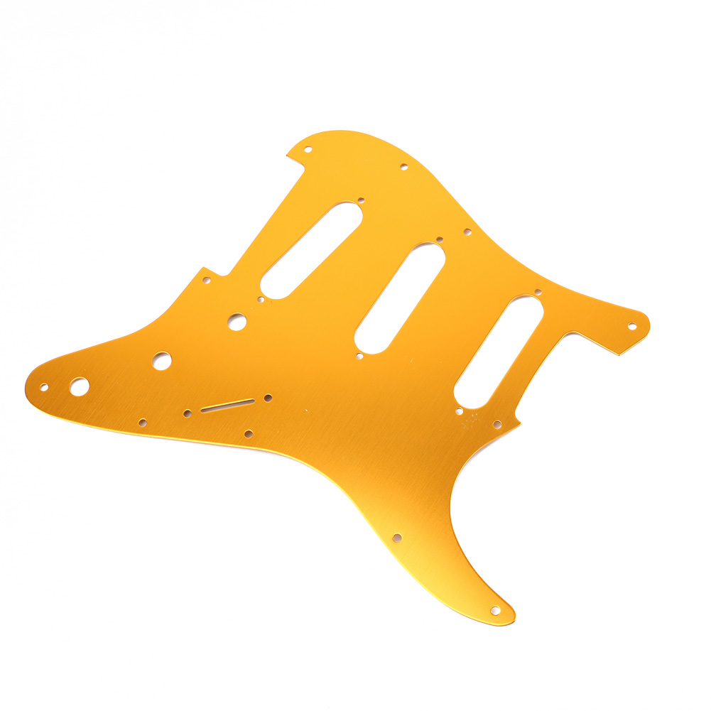 Guitar Accessories Electric Guitar Gold Celluloid Pickguard Scratch Plate Pick Guard + 3pc Guitar Single Coil Pickup Cover