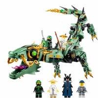 592pcs Diy Ninjagoes Movie Series Flying Mecha Dragon Building Blocks Compatible With Legoingly Bricks Toys For