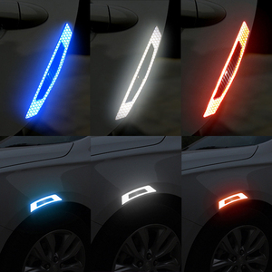 Image 2 - Car  5D Carbon Fiber Sticker Super reflective Stickers Decals Auto Reflective Strip Warning Car Styling Automobiles Accessories