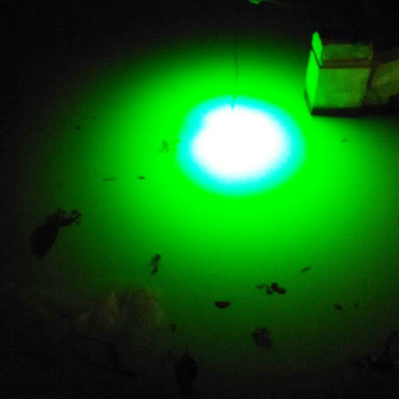 12V LED Green Underwater Fishing Light Lamp Fishing Boat Light Night Fishing Lure Lights for Attcating Fish With 5M Wire Cable 6m length cable 8w deep drop underwater 50m night fishing boat lights 12v led green fishing lights