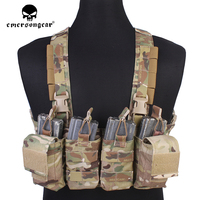 emersongear Easy Chest Rig Vest Combat Recon Tactical Vest With Magazine Pouch Airsoft Paintball Hunting Vest Multicam EM7450