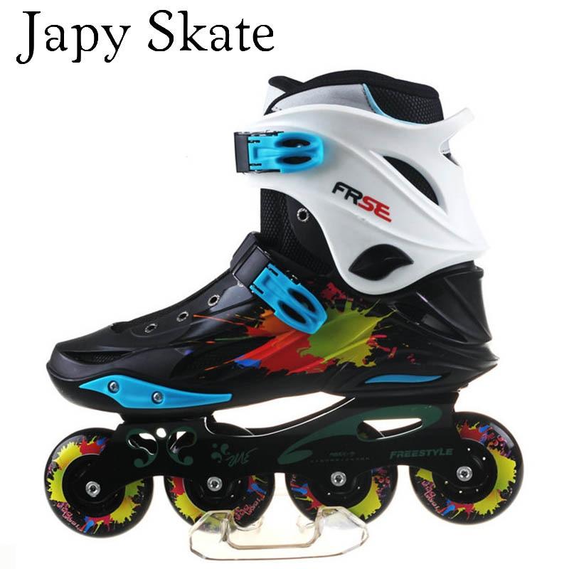 Japy Skate Original Freestyle M1 Professional Slalom Inline Skates Adult Roller Skating Shoe Sliding Free Skating Patines AdultoJapy Skate Original Freestyle M1 Professional Slalom Inline Skates Adult Roller Skating Shoe Sliding Free Skating Patines Adulto