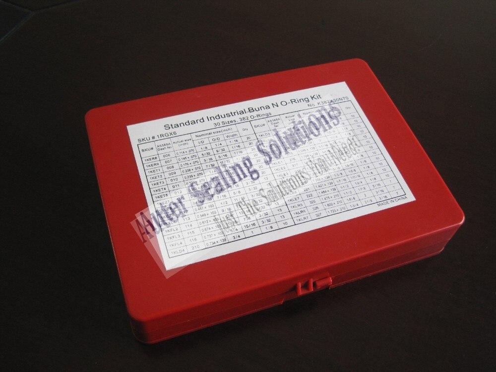 High Quality 382 Pcs 30 Sizes AS568 Viton / FKM 75 Oring Kit O ring ...