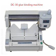 DC-30 Desktop hot melt glue binding machine comb glue book binder machine booklet maker 110V/220V