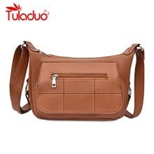 2019 New Soft Crossbody Bags For Women PU Leather Handbags Designer Women Shoulder Bags High Quality Solid Women Messenger Bags