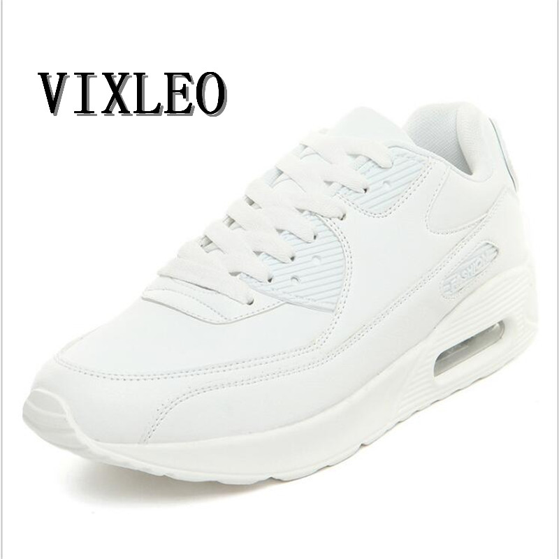 VIXLEO Men Running Shoes Breathable Air Mesh Lace-up Sport Shoes Outdoor Cushion Shoes Maxings 90 Sneakers Shoes 36-45
