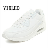 VIXLEO Men Running Shoes Breathable Air Mesh Lace Up Sport Shoes Outdoor Cushion Shoes Maxings 90