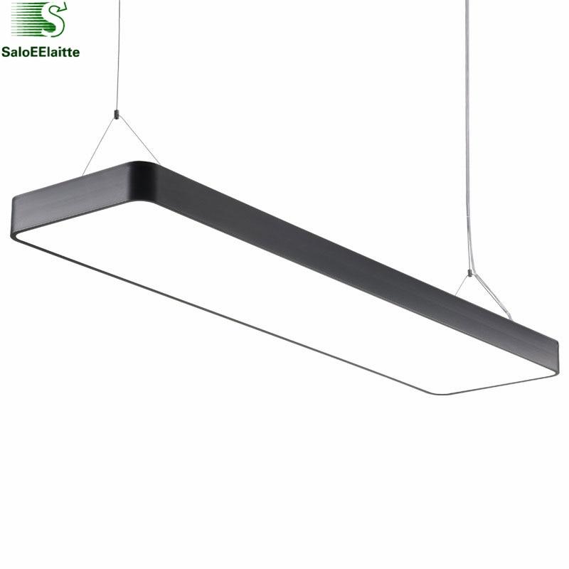 New Moderne Kantoor Minimalisme Led Hanglamp Rechthoek Stijl Eetkamer TQ13