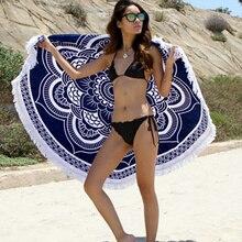 Мода Турецкая Бросить Roundie Мандалы Круговой Круглые Ситец Большой Пляж Полотенца с Кистями L38352