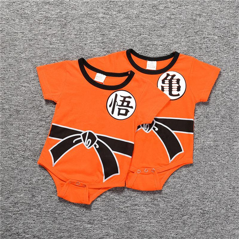 Baby Rompers Summer Newborn Baby Short Clothe SON GOKU Toddler Jumpsuit Halloween Costumes Dragon For Baby Boy Girl Clothes
