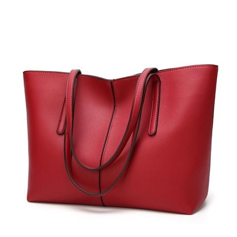Bolsa de Couro Design de Luxo para Mulheres Capacidade de Compras Genuíno Casual Tote Bolsa Moda Ombro Senhoras Grande Novo C826