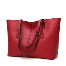 Genuine Leather Handbag Luxury Design Women's Casual Tote Purse Fashion Shoulder Handbag Ladies Large Capacity Shopping New C826(China)