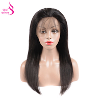 Real Beauty Straight Full Lace Wigs Human Hair With Baby Hair Pre Plucked Brazilian Glueless Lace Wigs Bleached Knots Remy Hair