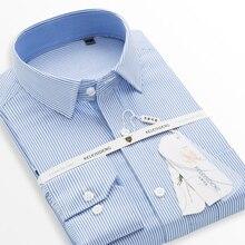 2017 известный бренд хлопка с длинным рукавом для мужчин платье рубашка Slim Fit мужской однотонный розовый деловые повседневная рубашка Работа Офис Плюс Размер