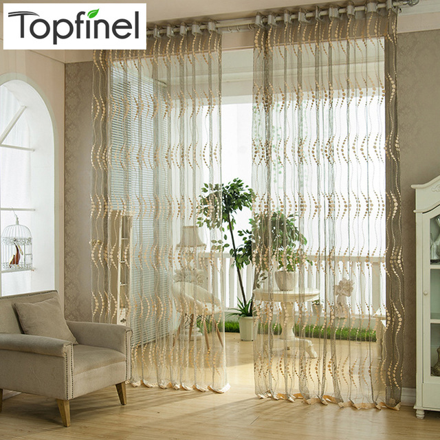 Top Finel Fashion Modern Window Tulle Curtains For Living Room Sheer Kitchen  Curtains Window Treatments Shades