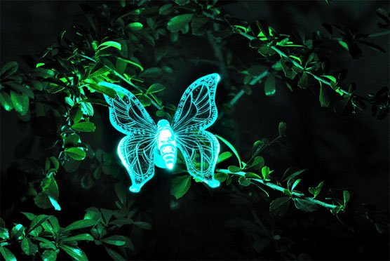 Newest Good Quality Solar Energy Color Changing Butterfly Night Light LED  Colorful Garden Lamp Lawn Light