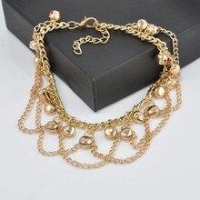 Tassel Anklet New Ankle Bracelet Pulseras Tobilleras Gold Jewelry For Women Summer Fine Barefoot Sandals