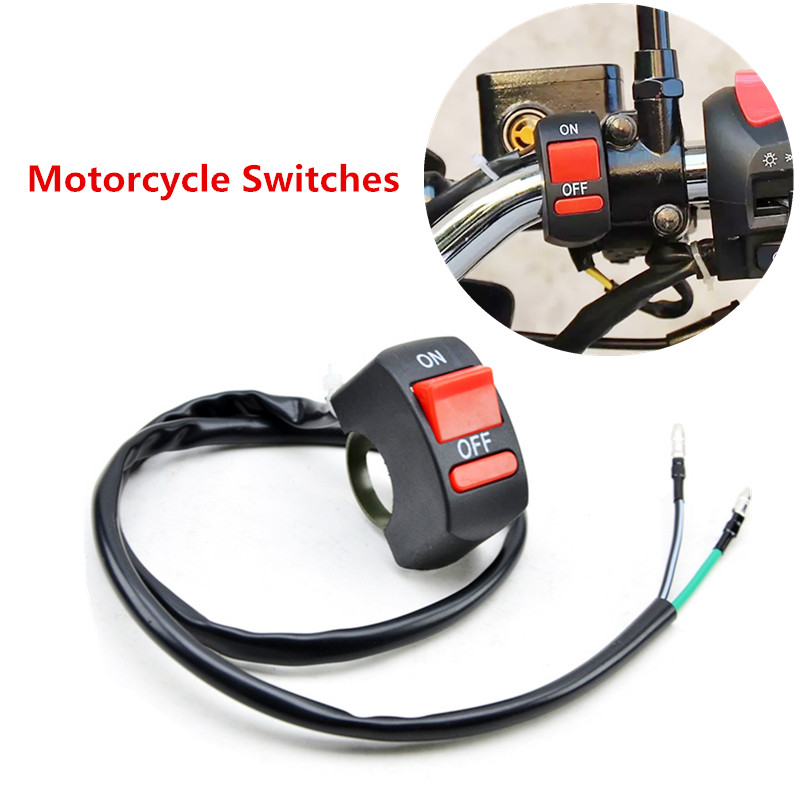 Universal Motorcycle <font><b>Handlebar</b></font> Flameout <font><b>Switch</b></font> ON OFF Button for Moto Motor ATV <font><b>Bike</b></font> DC12V/10A Motorcycle Accessories image
