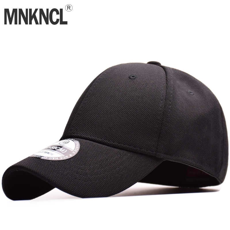 66d9796f8f5839 MNKNCL High Quality 100% Cotton Baseball Cap Flexfit Fitted Closed Full Cap  Men Sport Hats