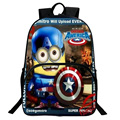 New Nylon Cartoon Backpack Minions Cosplay Marvel Super Hero Backpack Mochila Despicable ME 2 Schoolbag Child Quality School Bag