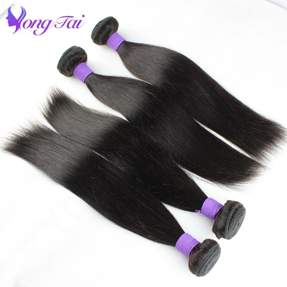 Yongtai Hair Malaysian Remy Straight Hair 100% Unprocessed Hair Extension Natural Black 10-26 Cheap Human Hair Weave