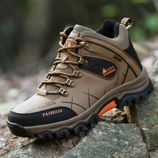 Autumn Winter Big Size Men Waterproof Hiking Shoes Breathable Outdoor Hunting Antiskid Tourism Sport Flats Climbing Sneakers