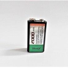 1 шт./лот 9v перезаряжаемая батарея большой емкости 2000mah 9V NiMH батарея
