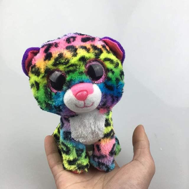 Ty Beanie Boos 6 15cm Dotty Multicolor Leopard Plush Regular