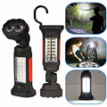 16 LED Flashlight Bright 360 Rotation Hand Torch Tent Hook Camping Hanging Work Lanterna Light Lamp Flashlights AAA battery