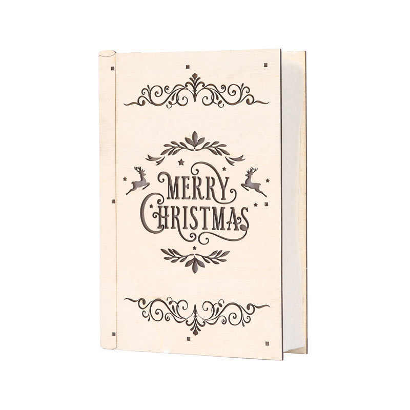 906e7d88af2a Cute Luminous Cabins Gift Creative Christmas Decorations Wood Book Table Decor  Christmas Ornaments For Home natale