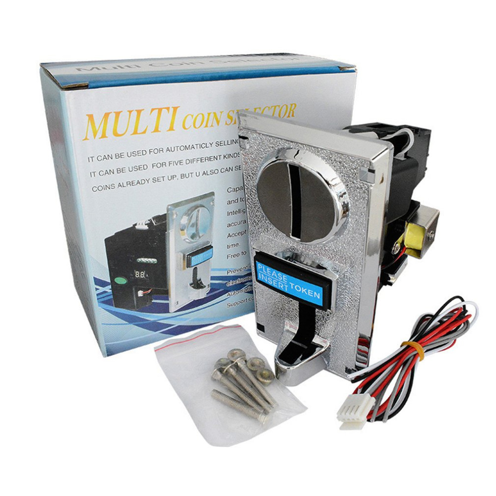 Multi Coin Acceptor Electronic Roll Down Coin Acceptor Selector Mechanism Vending Machine Mech Arcade Game Ticket Redemption Set Мельница