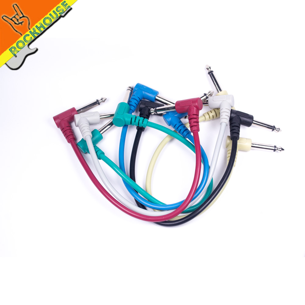 Cut Price 9v Dc 1a Guitar Effects Pedal Powers Supply Adapter 1 4 Jack Wiring 1set 6 Pcs High Anti Interference Performance 65mm Inch 30cm 118inch Colour Male To Effect Cable