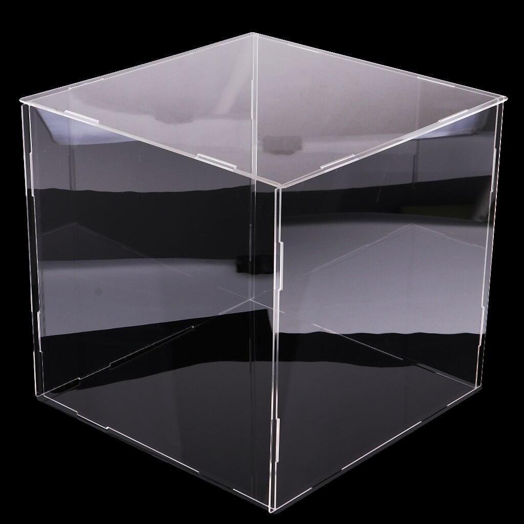 30 cm antipoussière Cube clair acrylique boîtier support de la boîte pour enfants garçons jouer voiture poupées jouet